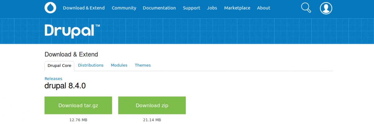 Download Drupal 8.4